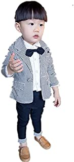 子供スーツ キッズ服 男の子衣装 ズボン、コート、シャツ3点 卒業式/入園式/発表会/七五三/フォーマル 90~120cm