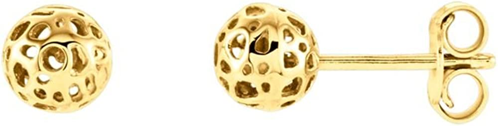 Jewels By Lux 14K Yellow Gold Ball Earrings