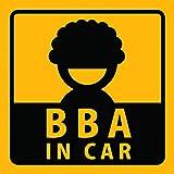 [ステッカー屋Donperi] BBA IN CAR 車用 おもしろ マグネットステッカー B0004