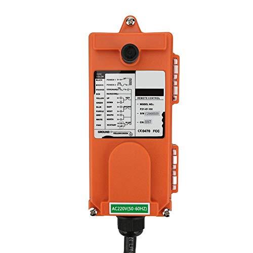 Sistema de control remoto por radio de polipasto Control remoto de 220 V 2 transmisores 1 receptor Elevación eléctrica IP65 Control de motor de servicio pesado para control industrial