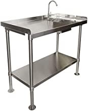 RITE-HITE Stainless-Steel Fillet Cleaning Table - Made in The USA, Heavy Duty Fillet Table to Handle All Your Cleaning Needs