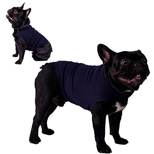 Amphia - Pet Stimmung beruhigt die Kleidung - Enge Kleidung Portative Weicher, langlebiger Wickelmantel für Welpen Hunde Pets Pacifying(Blau,S)