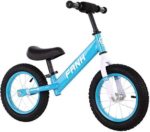 JIAO Kinderbilanz Bike-Walker Ohne Pedale, Mit 12-Zoll-aufblasbaren Rädern, Kohlenstoffstahlrahmen,...