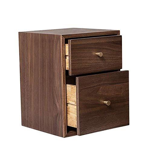 Tavolo da letto, Tavoli da letto a doppio cassetto comodino, divano in legno massello tavolo / da comodino, soggiorno nero noce quadrato piccolo tavolino tavolino da caffè colore: noce, dimensioni: 9.