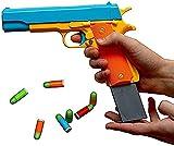QHYTL Juguetes educativos para niños, lanzagranadas Colt 1911 Style Soft Bullet Toy, restauración de tamaño Completo 1: 1, Pistola de Juguete Divertida e inofensiva
