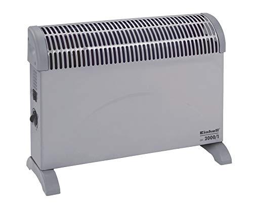 Einhell Konvektor CH 2000/1 (230 V, 2000 Watt max., 3 Heizstufen, stufenl. Thermostatregler, Befestigung als Wandheizung, Standfüße als Bodenheizung)