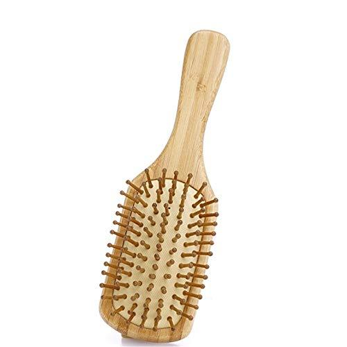 Brosse démêlante pour bois Poignée en bambou naturel Peigne Brosse à cheveux avec Bamboo Paddle brosse à cheveux for Masser Scalp pour hommes femmes ( Couleur : Natural , Size : 22.3X6.4X1.26CM )