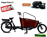 Elektro Transportfahrrad/Bakfiets Vogue Carry 2 Rad 7 Gang Schwarz