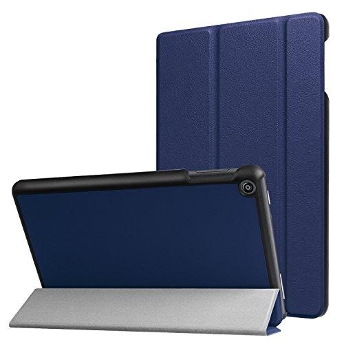 Lobwerk Schutzhulle fur Amazon Fire HD 8 201620172018 8 Zoll Tablet Hulle Flip Case mit Auto SleepWake Blau