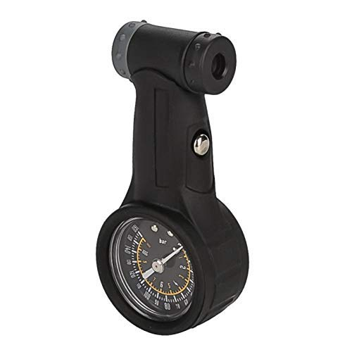 DAUERHAFT Accesorio útil para Bicicleta de montaña, medidor de presión de Aire para Bicicleta, Adecuado para válvulas Tipo Presta y Schrader