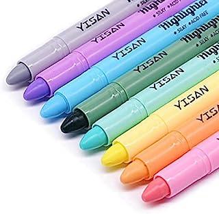 YISAN Surligneur gel, surligneur Bible, marqueurs, sans bavure, 8 couleurs pastel 902249