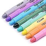 YISAN Subrayador de gel, resaltador de la Biblia, rotuladores de cera, sin sangrado, 8 colores pastel 902249
