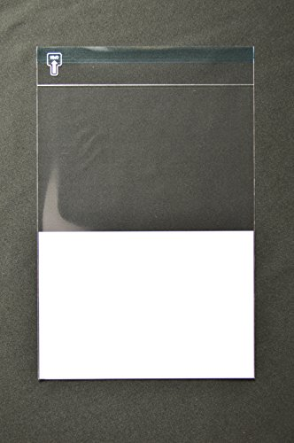 印刷透明封筒 A4 【500枚 OPP 50μ(0.05mm) 表:下1/2白ベタ 切手/筆記可 静電気防止処理テープ付き 折線付き 横225×縦305+フタ40mm印刷可
