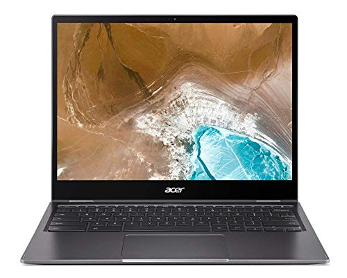 Acer Chromebook 713 - Portátil táctil Convertible 13,5' QHD (Intel Core i5-1021U, 8GB RAM, 128GB SSD, Chrome OS), Color Plata - Teclado QWERTY español.