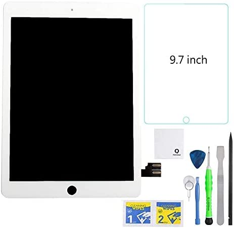 FixCracked Replacement LCD Screen and Glass Touch Digitizer + Screen Protector for ipad pro 10.5 with Professional Tool Kit(White)