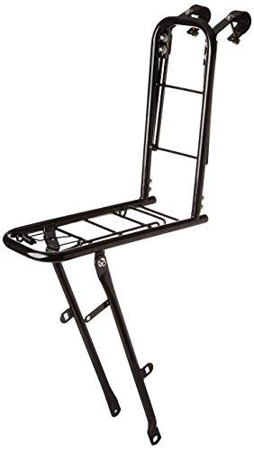 Basil Slim Fit - Portaequipaje Delantero para Bicicleta de 26 a 28 Pulgadas, Peso máximo: 10 kg Negro Negro