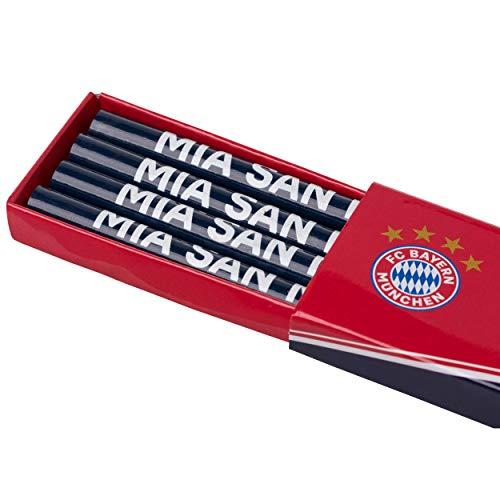 FC Bayern München Bleistift - Box 4er Set FCB - Plus gratis Aufkleber Forever München