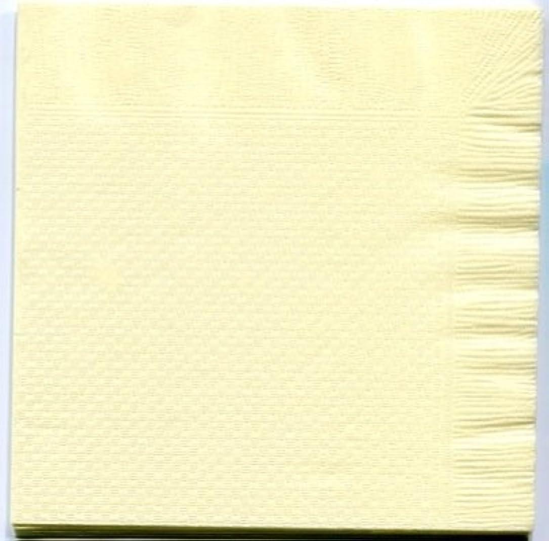 爬虫類銀開拓者カラー4折紙ナプキン「イエロー」(100枚)