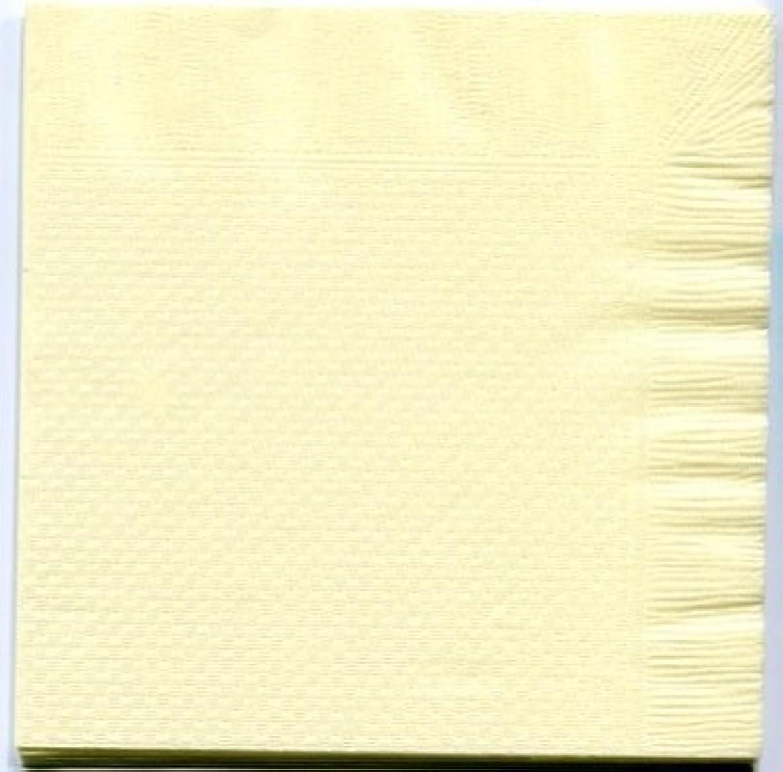 野球数学的な乳カラー4折紙ナプキン「イエロー」(100枚)