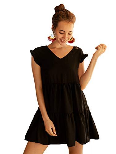 Cap Sleeve Babydoll Dress