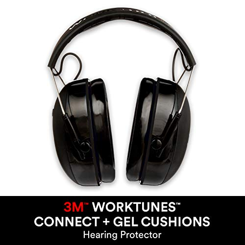 3M WorkTunes Connect + Comfortable Gel Filled Ear Pads Noise Reduction Bluetooth Hearing Protection, NRR 23dB, Great Father