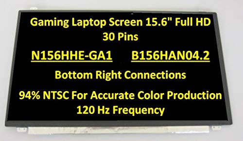 for MSI MS-16P7 LCD LED Replacement Screen 15.6' FHD 120HZ Gaming 1080p Display New