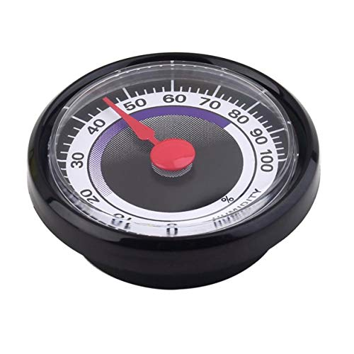 Tellaboull Tragbares genaues langlebiges analoges Hygrometer-Feuchtemessgerät Mini Power-Free für den Innengebrauch im Innenbereich