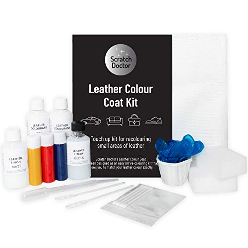 Scratch Doctor Leather Colour Coat Kit Dark Brown Recolour and Repair Small Areas on Leather Sofas Car Seats Shoes Bags Jackets