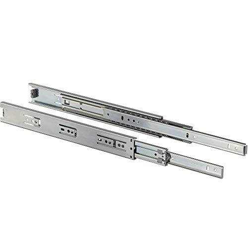 Schubladenschiene Vollauszug 700 mm Kugelauszug Schienen - KTS 5632 | Stahl verzinkt | Teleskopschiene Schubladen und Schubkästen | Teleskopauszug kugelgelagert | 1 Paar - Auszüge für Küchen-Schränke