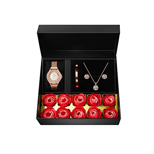 Girlfriend Rose & Jewelry Gift Box Set