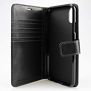 vest Anti Radiation Wallet Case for iPhone XR (10R) with RFID Protection Bump & Shock Protection [Black]