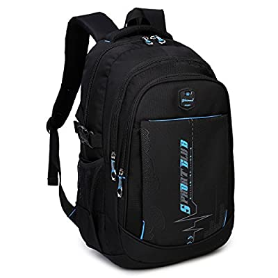 Goldwheat School Backpacks Student Bookbag Casual Shoulder Daypack Travel Back Pack for Teen Boys from