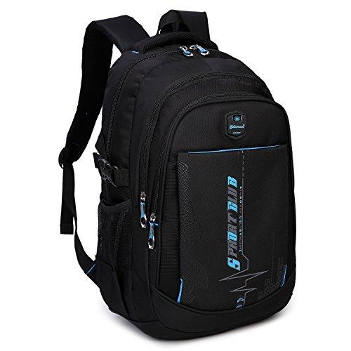DCCN Rucksack 35L Multifunktionale Daypack Schulrucksack Daypacks Schultasche Schwarz