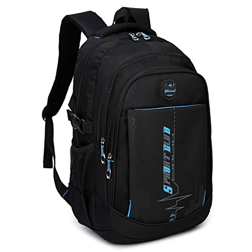Goldwheat School Backpacks Student Bookbag Casual Shoulder Daypack Travel Back Pack for Teen Boys