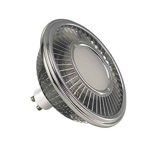 SLV Bombilla LED, GU10, 111 mm, 140°, 4000 K, aluminio, 13 W, color plateado