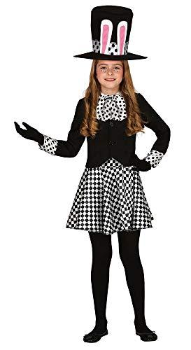 shoperama Verrückter Hutmacher Kinder-Kostüm für Mädchen Alice im Wunderland Crazy Mad Hatter März-Hase Weißes Kaninchen, Kindergröße:7-9 Jahre