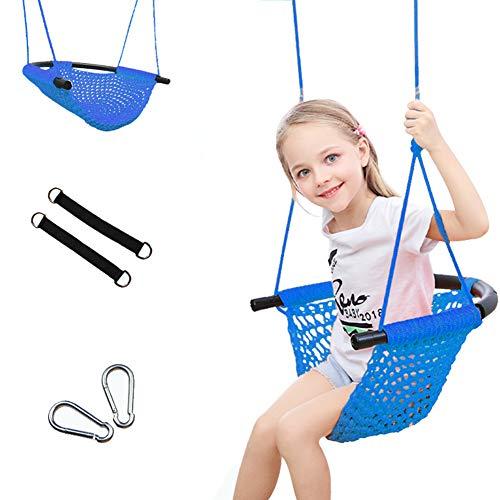 YunNasi Kinderschaukeln Handgewebter Schaukelsitz für Kinder Höhenverstellbar Schaukel für Garten Indoor Outdoor (Stil 4)