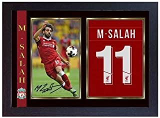 S&E DESING New Mohamed Salah Liverpool Signed Autograph Poster Print Photo Picture Framed