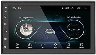 Liehuzhekeji Android Auto Double Din FM Radio Universal Multimedia Player, 7' HD 2.5D Bildschirm Stereo Empfänger, Unterstützung Spiegel Link eingebaut Bluetooth WiFi/GPS/Navigation/Aux in
