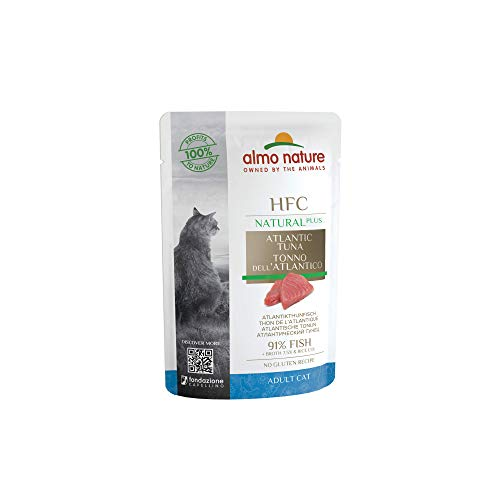 almo nature HFC Natural Plus Mouillé pour Chat – Poisson Atlantic 55 g x 24 pièces, 1 Paquet (1 x 1,7 kg)