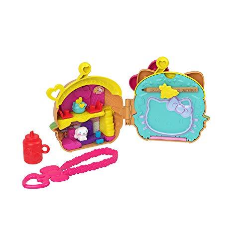 Hello Kitty Cofanetto Risto-Hamburger con 2 Mini Personaggi, Blocco per Appunti e Accessori, Giocattolo per Bambini 3+Anni,GVB28