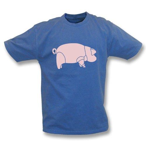 TshirtGrill Lavado del Vintage del Cerdo (según lo Llevado por David Gilmour), Marina de Guerra del Color