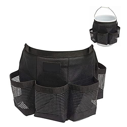 Organizador de herramientas de jardín tipo cubo, carrito de herramientas de cubo, organizador de herramientas de cubo de limpieza, cubo para cubo de pesca al aire libre impermeable y duradero de 5 gal