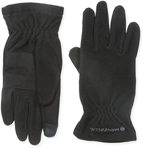 Manzella Men s Tahoe Ultra Touch Tip Gloves Black Medium Large product image