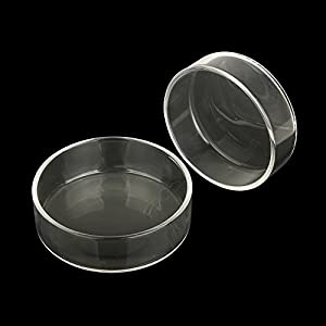 SENZEAL-2pcs-Glass-Shrimp-Feeding-Dish-Bowls-for-Aquarium-Reptiles-Home-Kitchen-Water-Food-Dish-Feeder-Bowl-Round