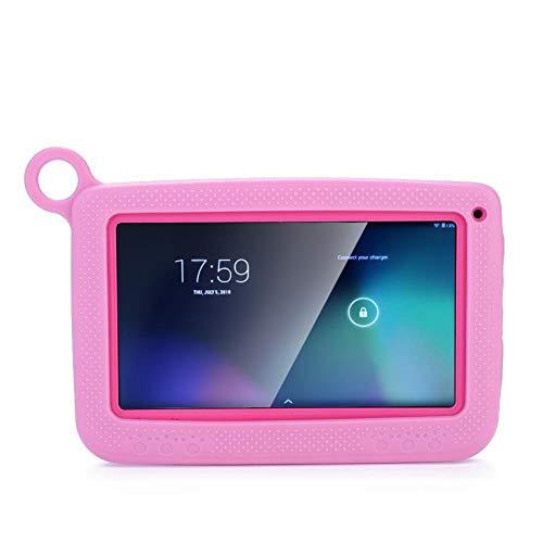 Bewinner Tablet PC da 7 Pollici per Bambini, 8GB Rom 32GB TF Card, 300 Mila Pixel Fotocamera Doppia, 2600mAh Batteria di Grande capacità, Supporto Android 4.4 5.1(Rosa EU)