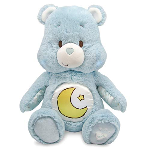 Care Bears Soother Bear Stuffed Animal Plush with Music & Lights, Bedtime Bear - Blue