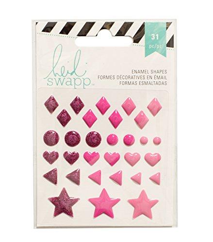 American Crafts Heidi Swapp 10268595 Sjabloon voor email vormen 3 roze glitter, acryl, meerkleurig