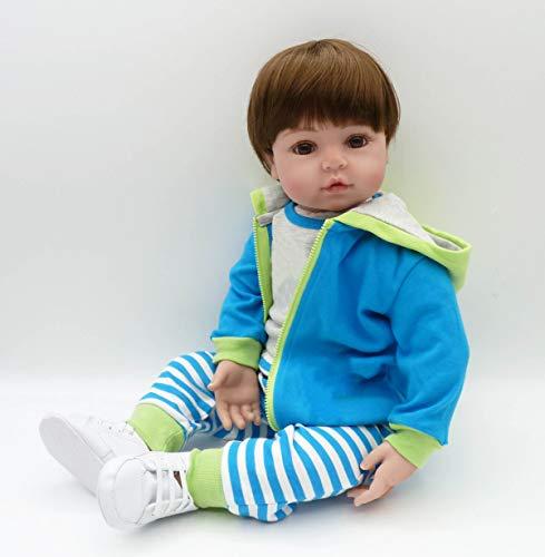 Pinky Reborn - Muñecas de 45 cm y 55 cm, diseño de reborn para bebé de silicona suave