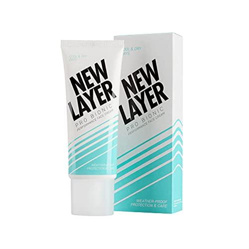 NEW LAYER Pro Bionic Gesichtscreme | Tagespflege für kältere Tage | Bio Hyaluron | Bio-Arganöl, Bio-Baobaböl, Bio-Buritiöl | Pro Vitamin D | Probiotischer Komplex | Ectoin | vegan| klimaneutral (75ml)